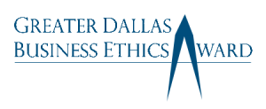 Greater Dallas Business Ethics award logo in blue
